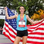 Molly Huddle wins the 2019 Reebok Boston 10K for Women